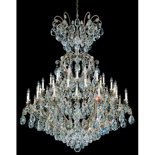 Schonbek Renaissance Rock Crystal Chandelier: Renaissance 41 Light Crystal Chandelier