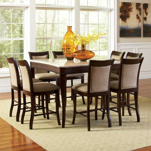 Andover Mills Rollins Extendable Dining Table Reviews: Andover Mills Paddock Counter Height Dining Table