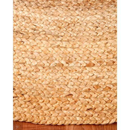 Natural Area Rugs Edison Oval 100% Natural Jute Hand