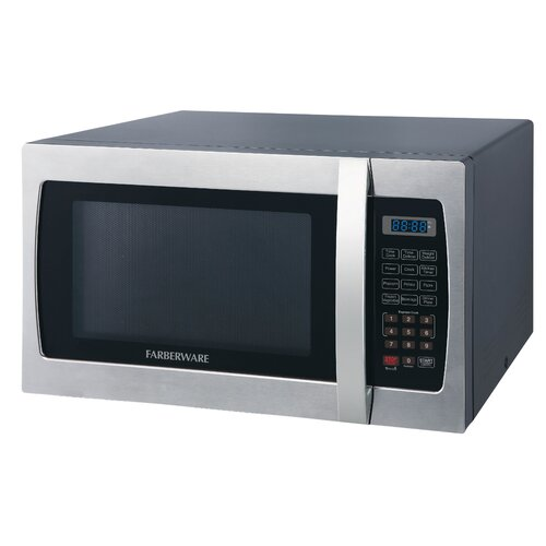 Professional 1.3 Cu. Ft. 1000W Countertop Microwave Oven by Farberware