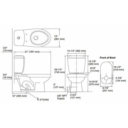 Karsten Dual Flush Elongated 2 Piece Toilet Wayfair