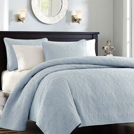 6 Piece Coverlet Set in  Blue