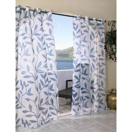 Thermavoile gevoerd Doorvoertule Single Curtain Panel