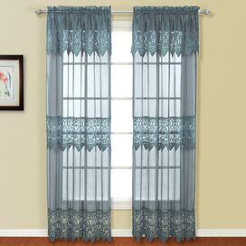 Anaya Cotton Doorvoertule Single Curtain Panel