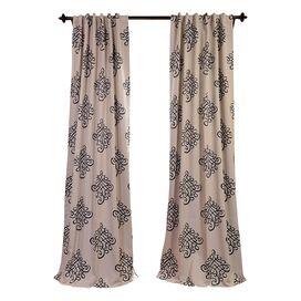 Geborduurde Rod Pocket Single Curtain Panel