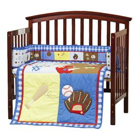 All-Star Athlete 3 Piece Reversible Portable Crib Bedding Set