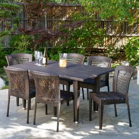 Beachcrest Home Vinalhaven 7-Piece Dining Set