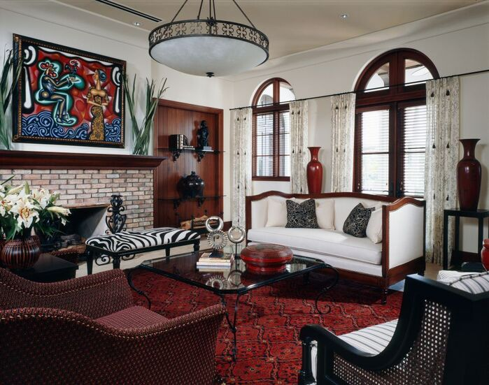 Eclectic Living Room photo by B. Pila Design Studio