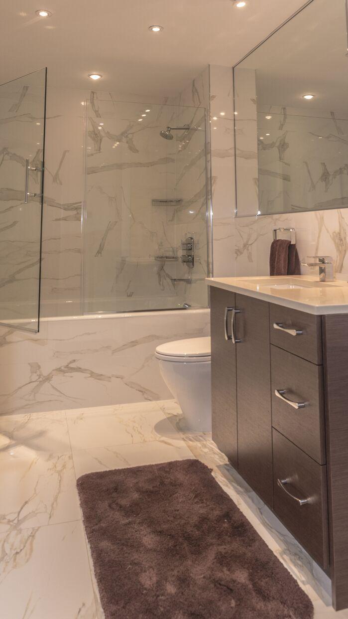 Contemporary Bathroom photo by Marie Burgos Design