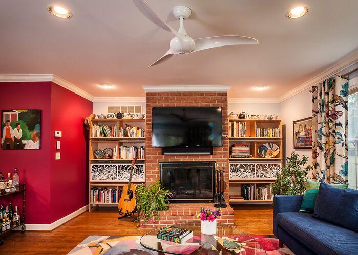 Eclectic Living Room photo by Lauren M. Levine Interiors