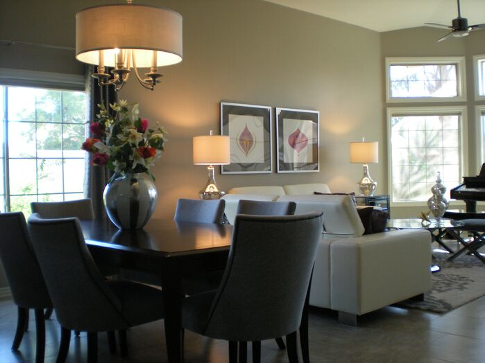 Contemporary Dining Room photo by Center Stage Interiors
