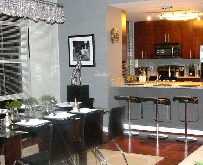 Contemporary Kitchen photo by Panache Interior decorating