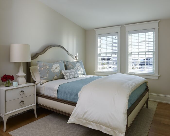 Coastal Bedroom photo by Michelle Wenitsky Interior Design