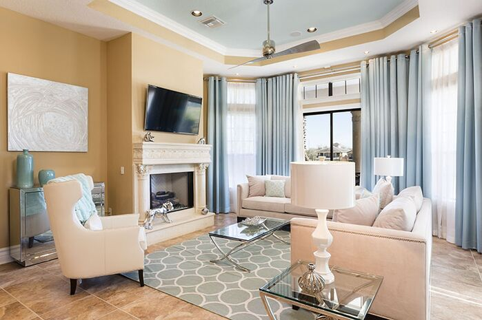 Glam Living Room photo by Florida Furniture Packages