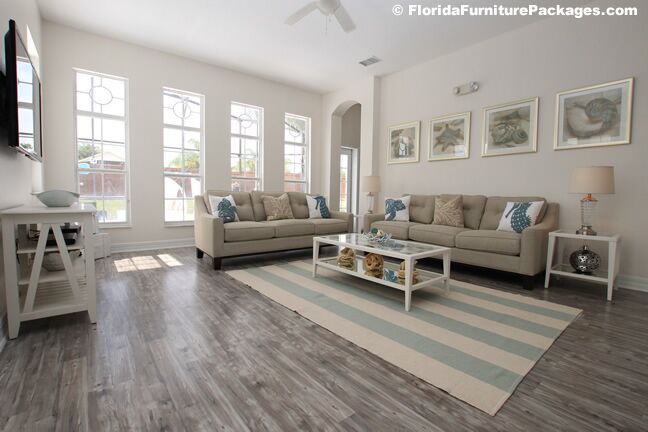 Coastal Living Room photo by Florida Furniture Packages
