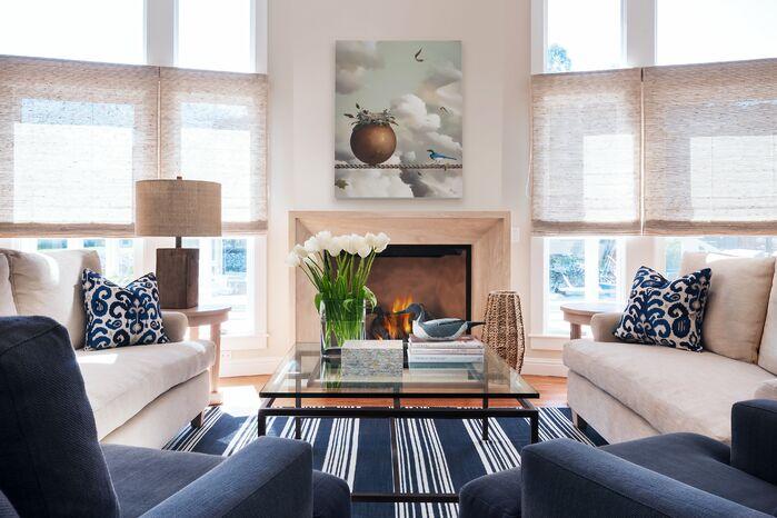 Coastal Living Room photo by Taylor Yang, Inc.
