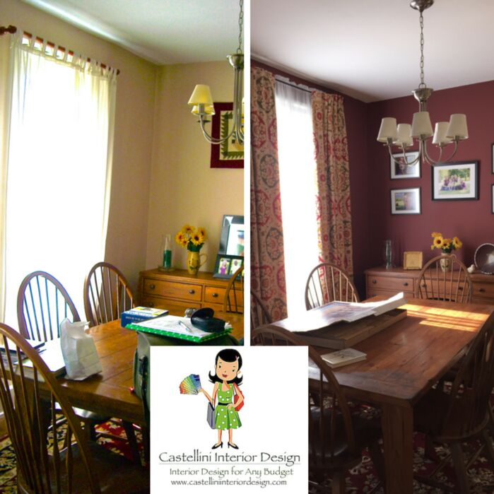 Cottage/Country Dining Room photo by Castellini Interior Design