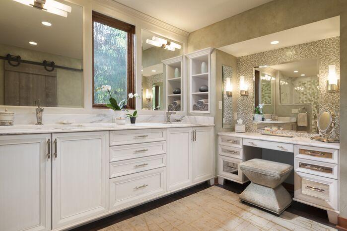Contemporary Bathroom photo by Karen Kempf Interiors LLC