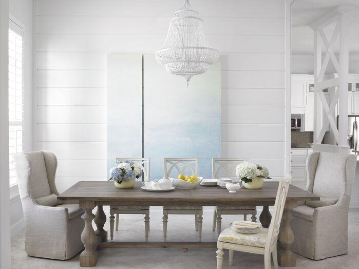 Coastal Dining Room photo by Krista Watterworth Design Studio