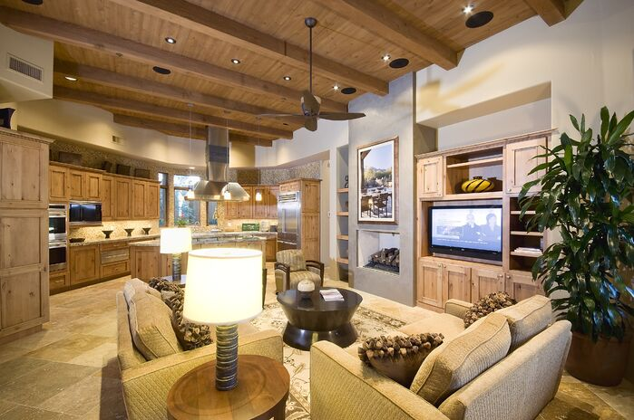 Cottage/Country Living Room photo by Boxhill Design