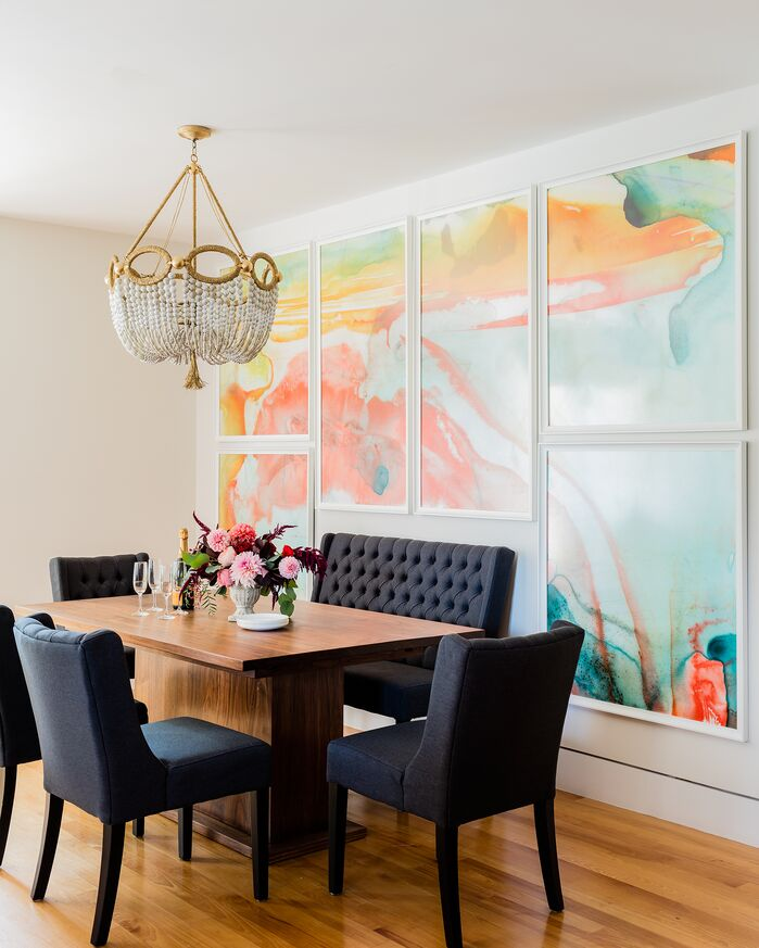 Eclectic Dining Room photo by KMID | Kate Maloney Interior Design