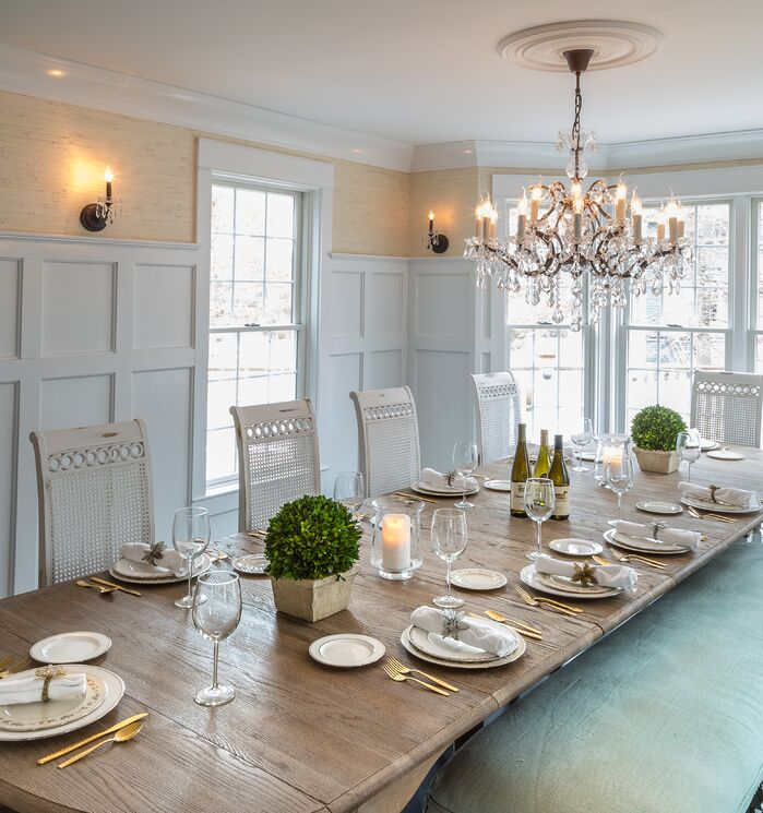 Cottage/Country Dining Room photo by Edward Williams