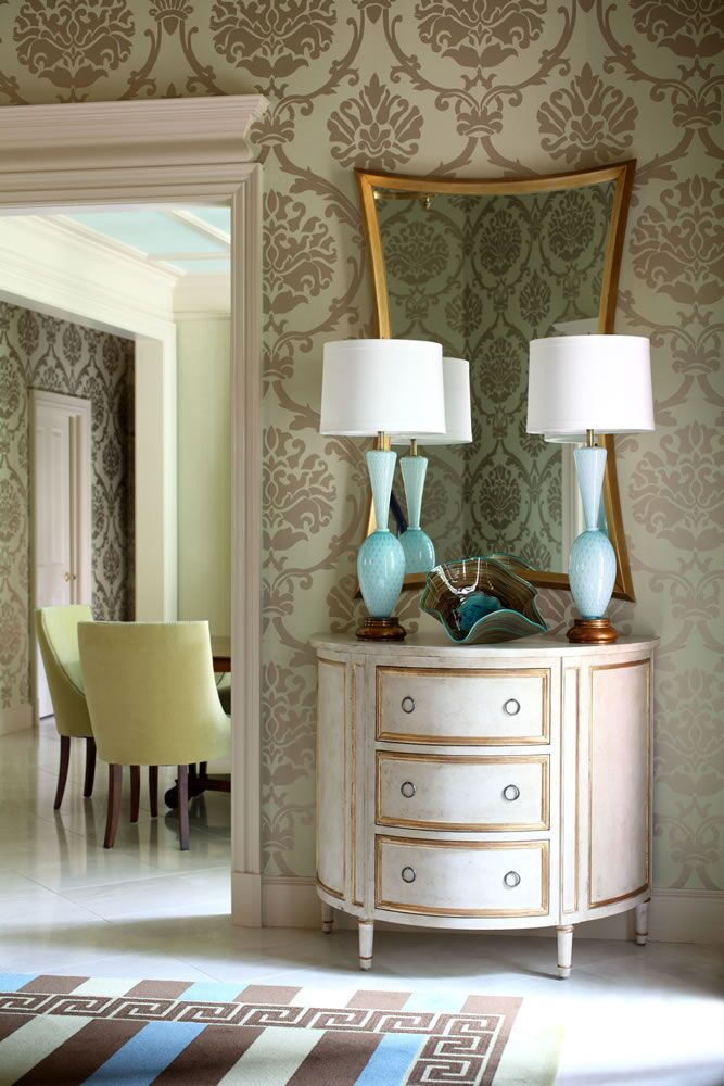 Traditional Entryway and Hallway photo by Tobi Fairley Interior Design