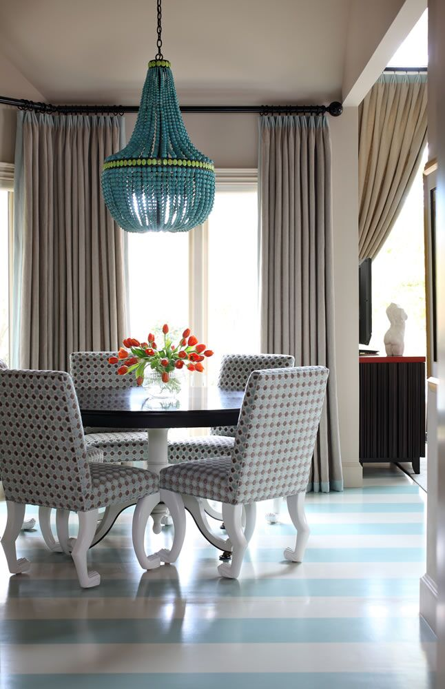 Contemporary Dining Room photo by Tobi Fairley Interior Design