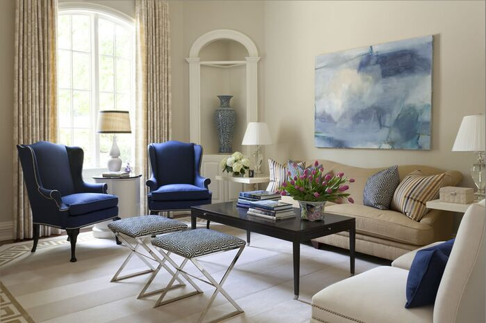 Living Room photo by Tobi Fairley Interior Design