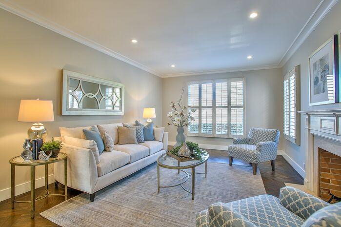 Contemporary Living Room photo by Tara Baker Design