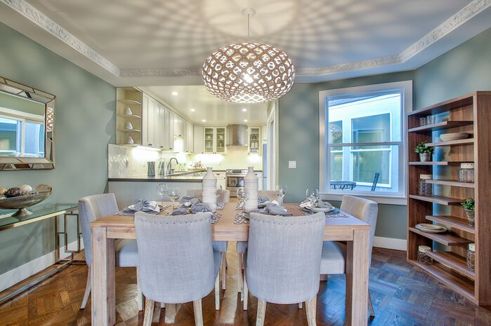 Eclectic Dining Room photo by Tara Baker Design