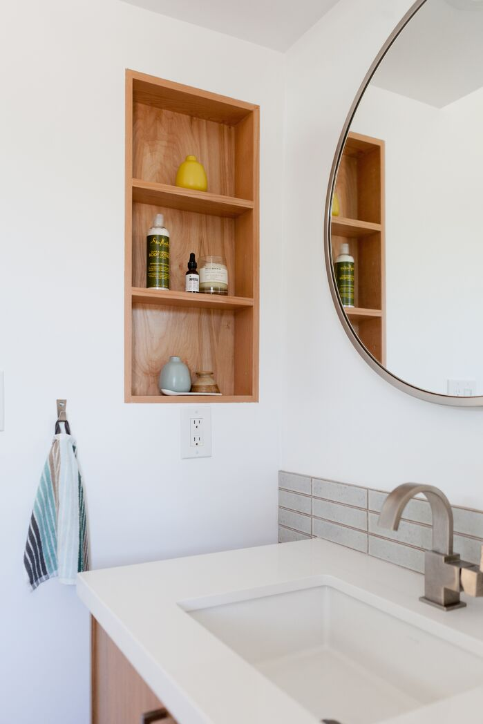 Modern Bathroom photo by Veneer Designs