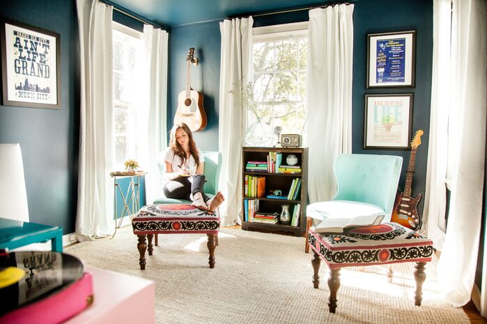 Eclectic Home Office photo by Kendall Simmons Interiors