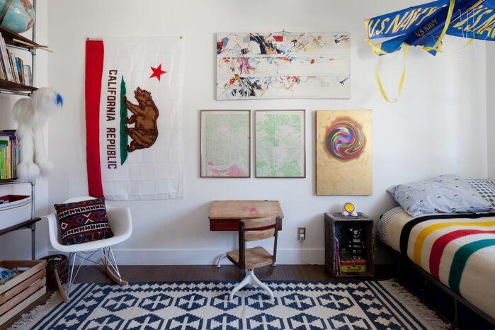 Boho Home Office photo by Veneer Designs