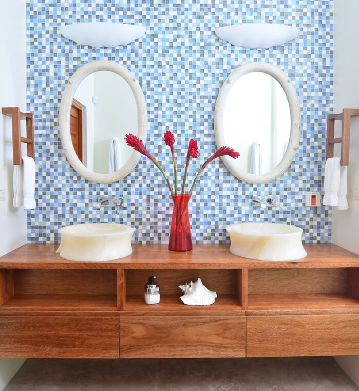 Bathroom photo by Bridget Beari Designs