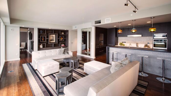Contemporary Living Room photo by Arch Interiors Design Group, Inc.