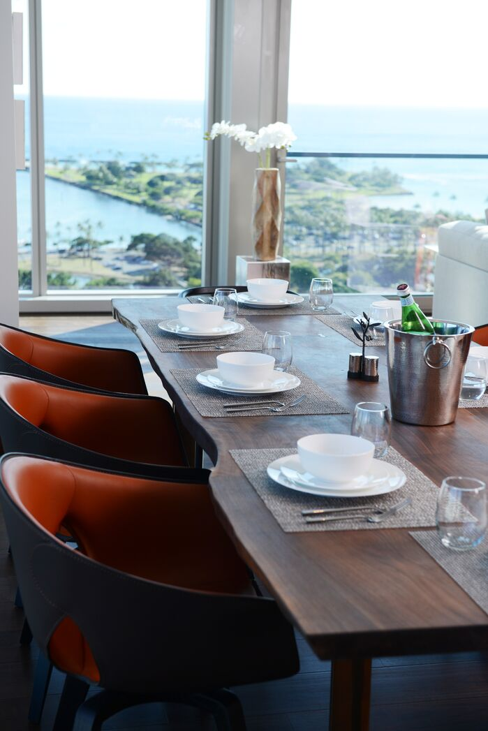Modern Dining Room photo by MCYIA Interiors Architecture and Design