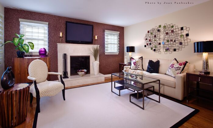 Modern Living Room photo by Paula Caponetti Designs LLC