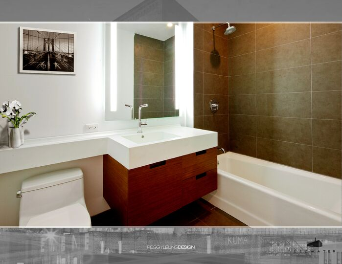 Contemporary Bathroom photo by PEGGY LEUNG DESIGN