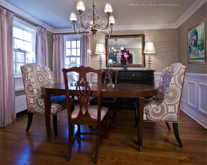 Traditional Dining Room photo by Paula Caponetti Designs LLC