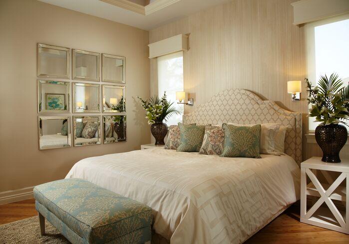 Coastal Bedroom photo by Krista Watterworth Design Studio