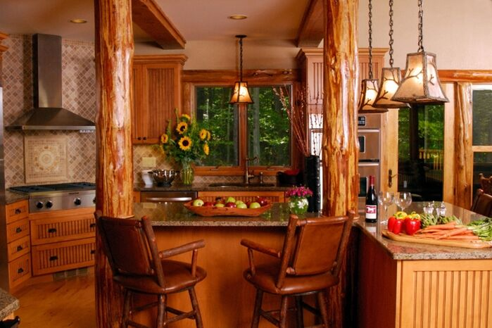 Rustic Kitchen photo by LA Design Portfolio