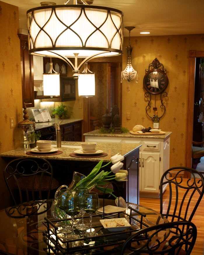 Traditional Kitchen photo by Gina McMurtrey Interiors LLC