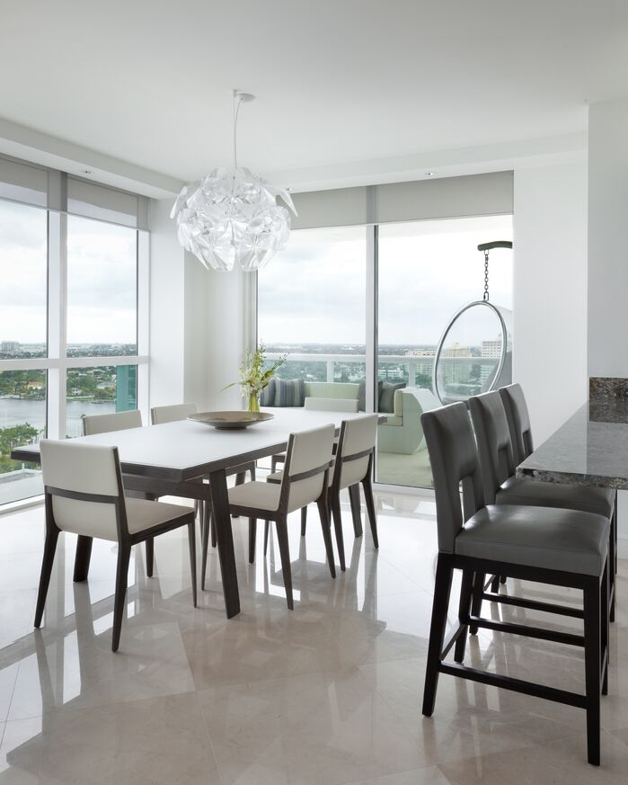 Contemporary Dining Room photo by Benjamin Cruz Designs