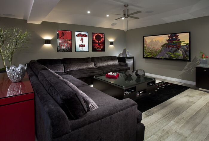 Contemporary Game/Rec Room photo by Beth Whitlinger Interior Design