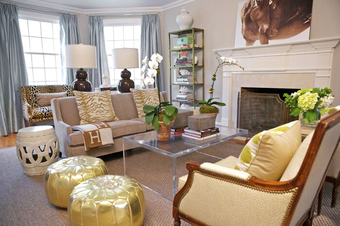 Eclectic Living Room photo by Sam Allen Interiors