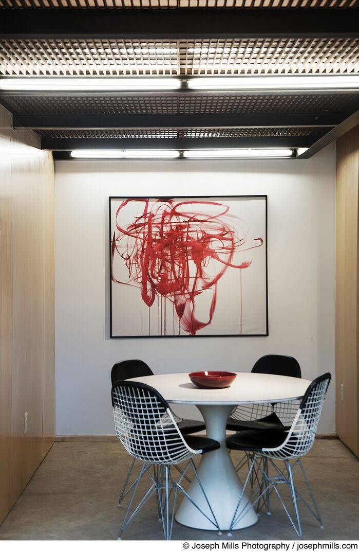 Industrial Dining Room photo by Fitzsimmons Architects