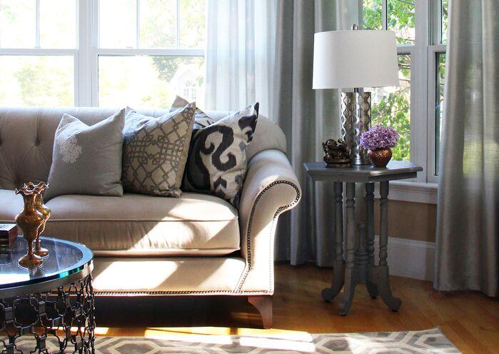 Contemporary Living Room photo by Victoria Elizabeth Design
