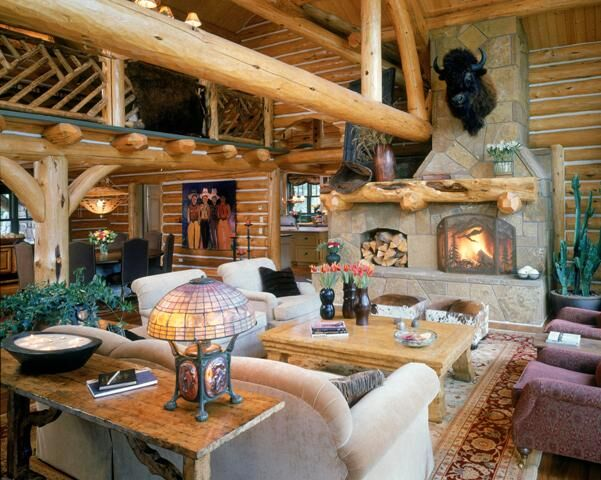 Rustic Living Room photo by Benning Design