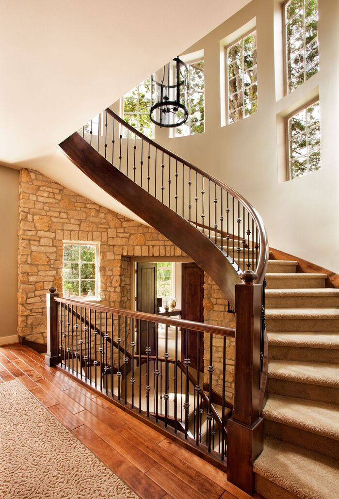 Rustic Entryway and Hallway photo by Garrison Hullinger Interior Design